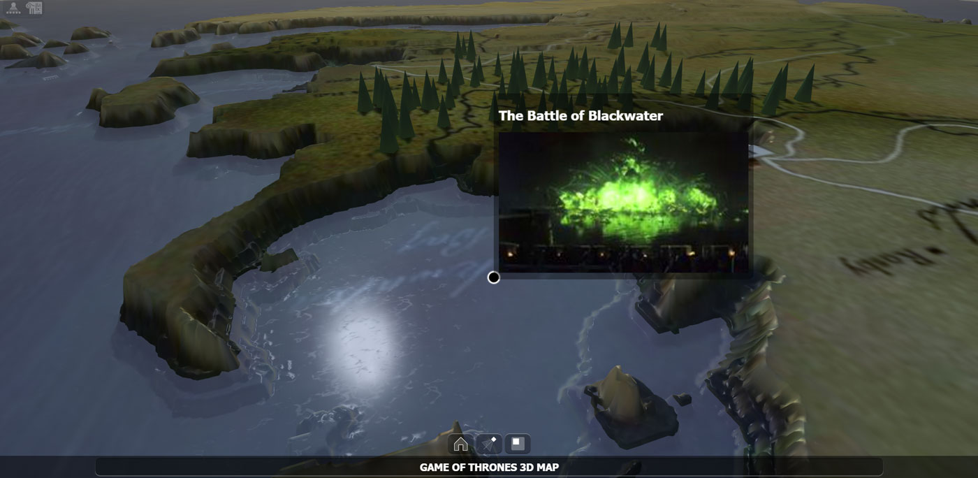 Fictional 3d landscapes the game of thrones map experiment the click on this image to explore the interactive got fictional 3d map sciox Images